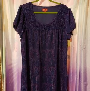 Purple shift dress